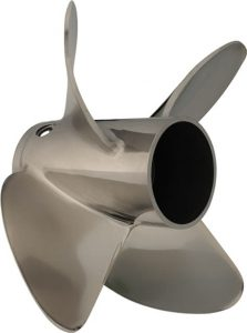 Stainless steel propeller with vent holes